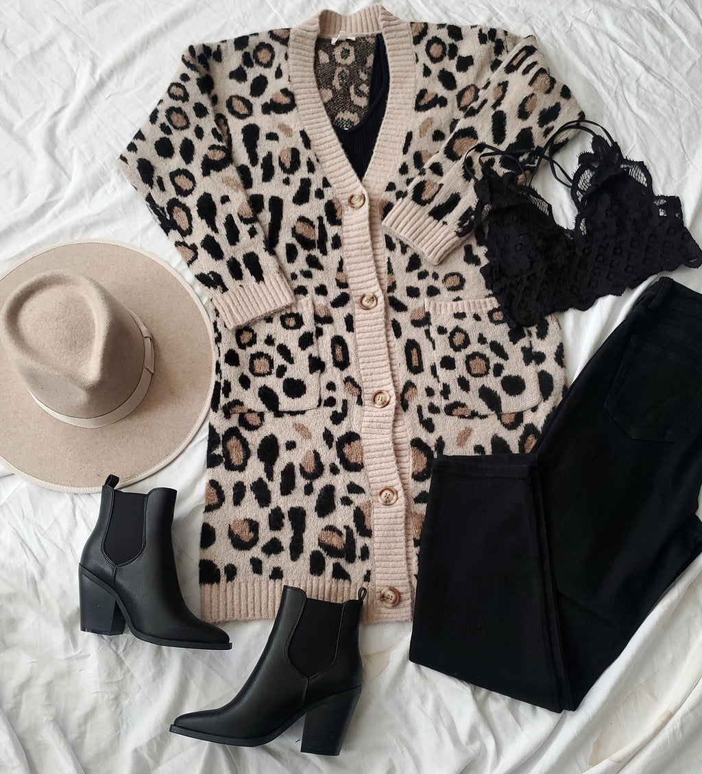 Long Leopard Cardigan Duster