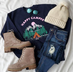 HAPPY CAMPER GRAPHIC SWEATSHIRT