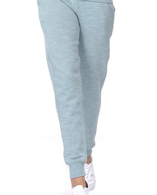 Stay At Home French Terry  Drawstring  Joggers Sweatpants Marled Smoky Blue
