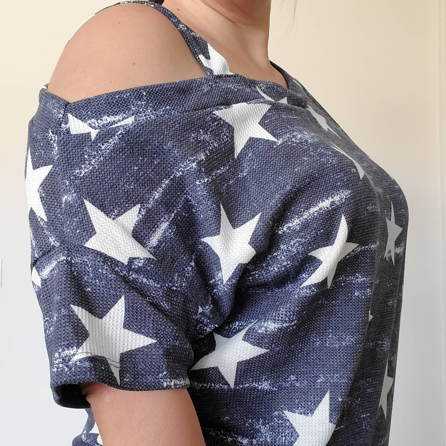Your Lucky Stars Navy Off The Shoulder Blouse