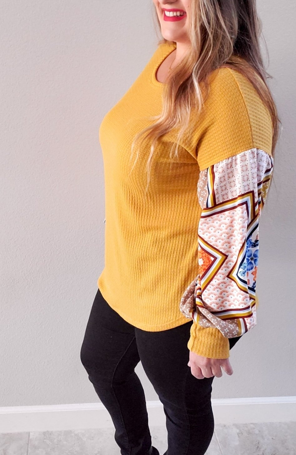 Chic Style Patchwork Top