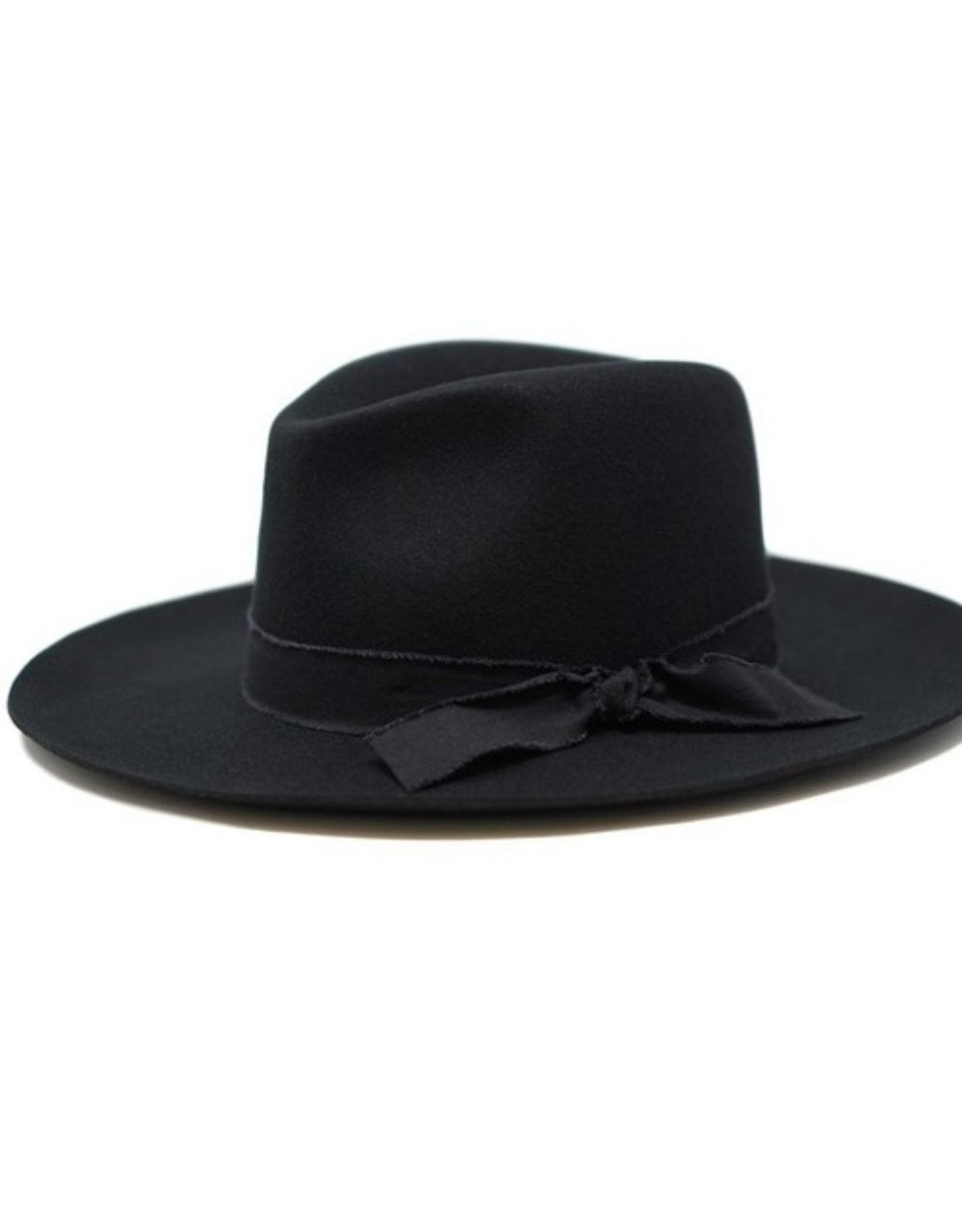Jacqueline Wool Panama Hat-Black