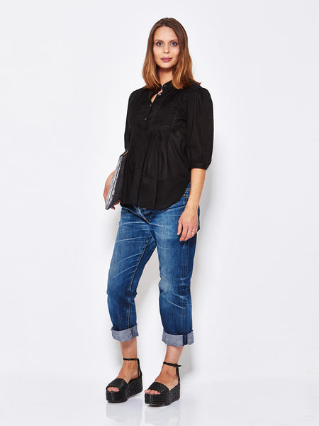 Cotton Pintuck Blouse