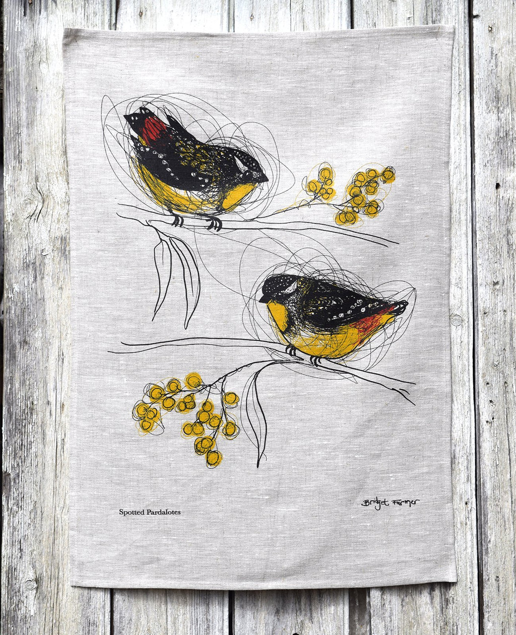Spotted Pardalotes - Tea Towel