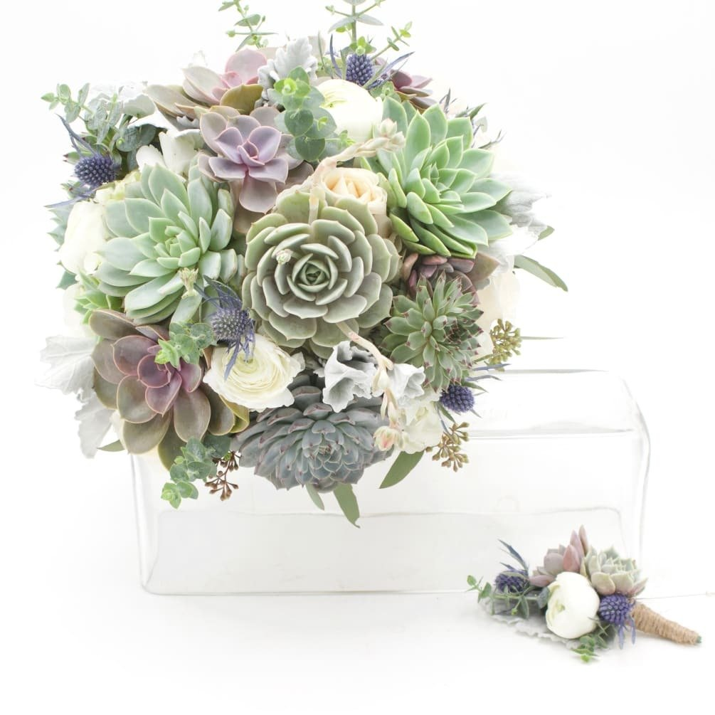 Wowsome Succulents Bouquet and Corsage