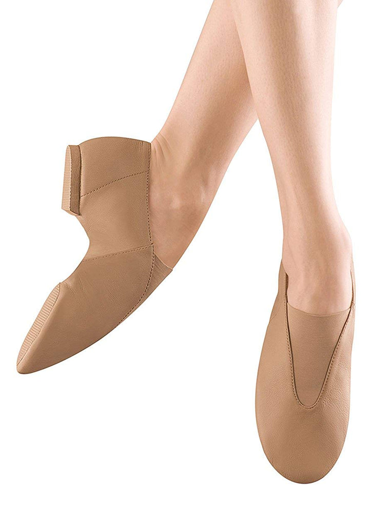 Bloch Dance Women's Super Jazz Leather and Elastic Slip On Jazz Shoe