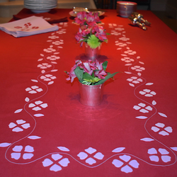 Matisse Floral Tablecloth, Red & Pink, Large