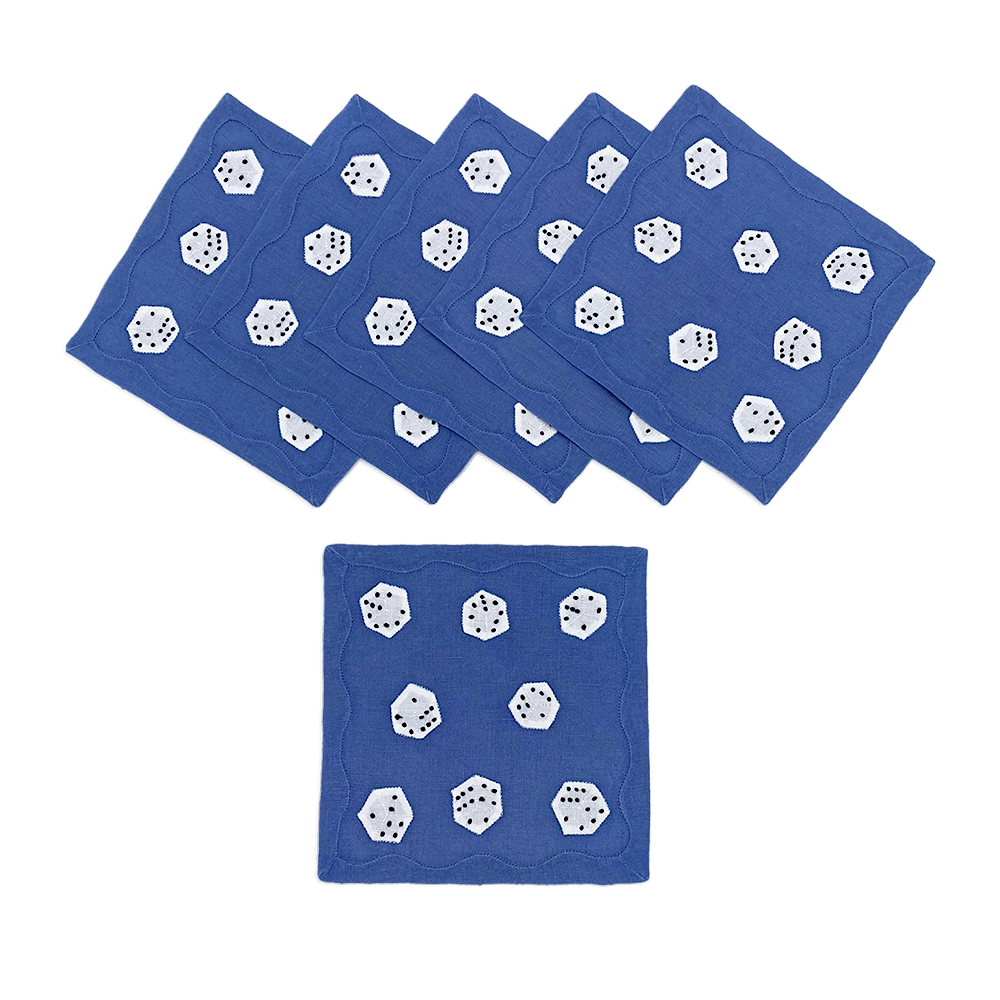 Dice Cocktail Napkins, Set of 6 - 2 SETS LEFT