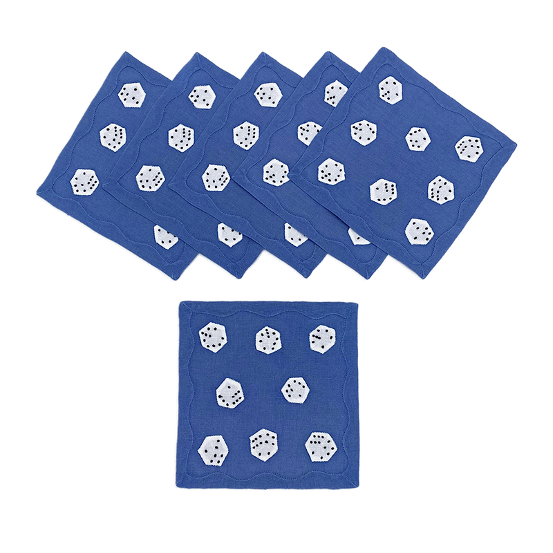 Dice Cocktail Napkins, Set of 6 - LAST SET