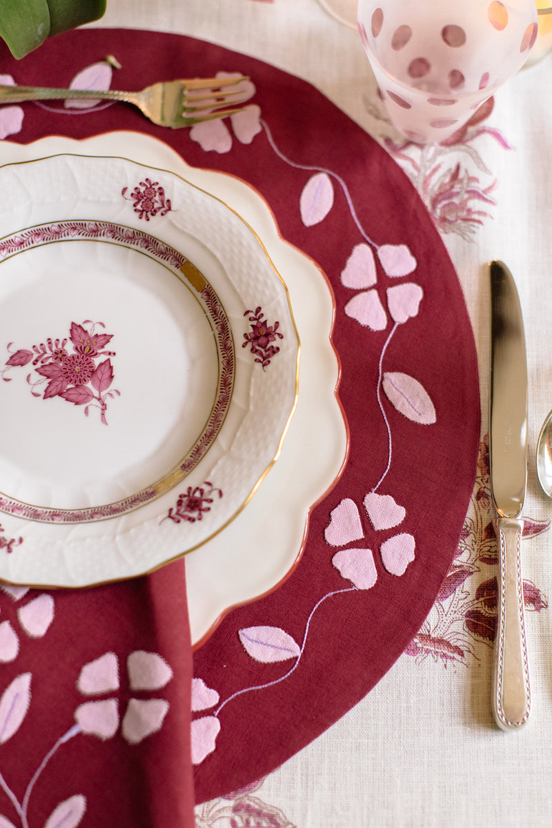 Matisse Placemat, Red and Pink, Set of 2 - Last set