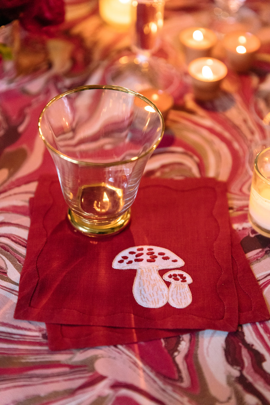Magic Mushroom Cocktail Napkins, Set of 6
