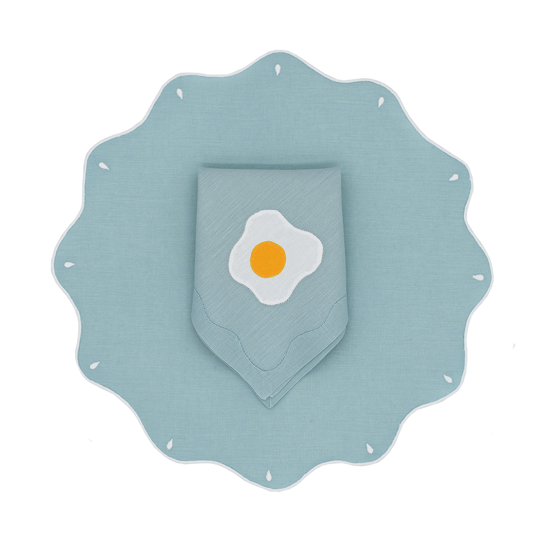 Fried Egg Dinner Napkins, Set of 2 - Limited Edition