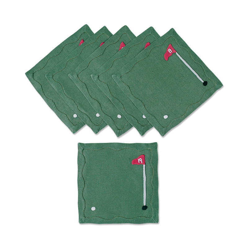 19th Hole Cocktail Napkins, Set of 6