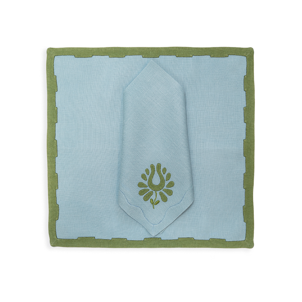 Indian Tulip Dinner Napkins in Ocean, Set of 2