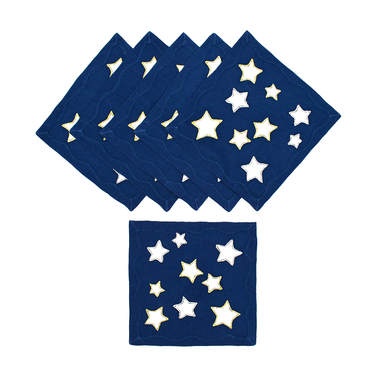 Starry Night Cocktail Napkins, Set of 6