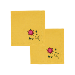 Marguerite Dinner Napkins Amber, Set of 2