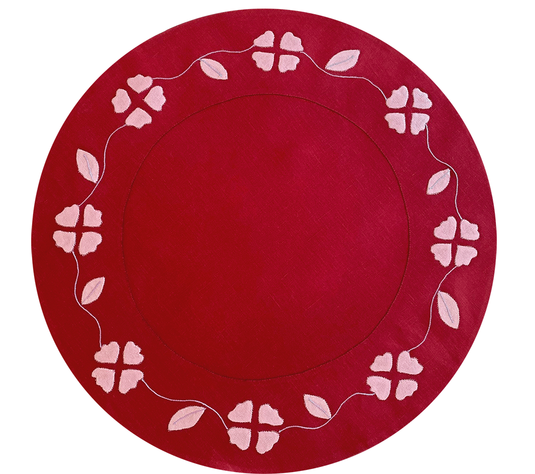 Matisse Placemat, Red and Pink, Set of 2
