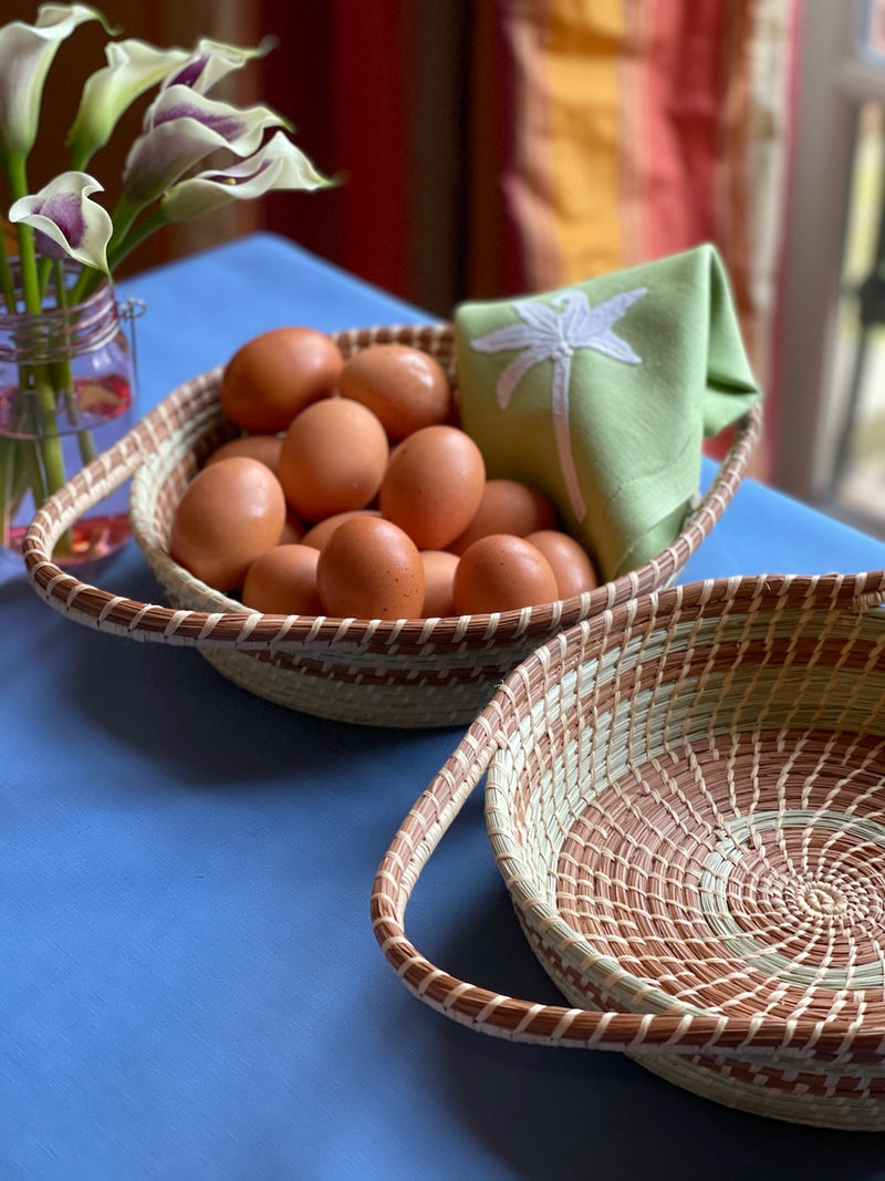 Woven Basket with Handles