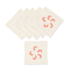 Shrimp Cocktail Napkins, Set of 6