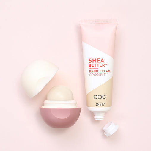 let's go coconuts lip balm and hand cream - eos - alt image 3