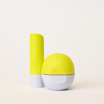 exhale - green apple tonic stick & sphere lip balm - eos