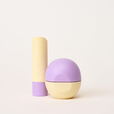 lavender latte stick and sphere lip balm - eos