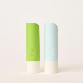 rainbow sherbet & vanilla twist 2-pack stick lip balm - eos