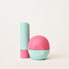 watermelon frosé stick and sphere lip balm - eos