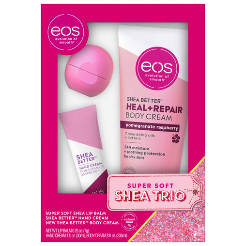 strawberry cheer and pomegranate raspberry lip and lotion gift set - eos - alt image 1