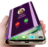 Smart Mirror phone Case For Samsung Galaxy A50 S10 S9 S8 S7 A70 A7 A9 A8 A6 Note 8 9 M20 J7 Flip Case