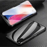 Two side Glass Magnetic Adsorption Folding Case Luxury Metal Tempered Cover Case for iPhone