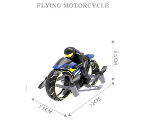 💝LOL!!!💥2 In 1 Remote Control Motorcycle Land And Air