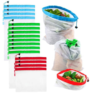 16pcs Reusable Produce Bags(1 Set)
