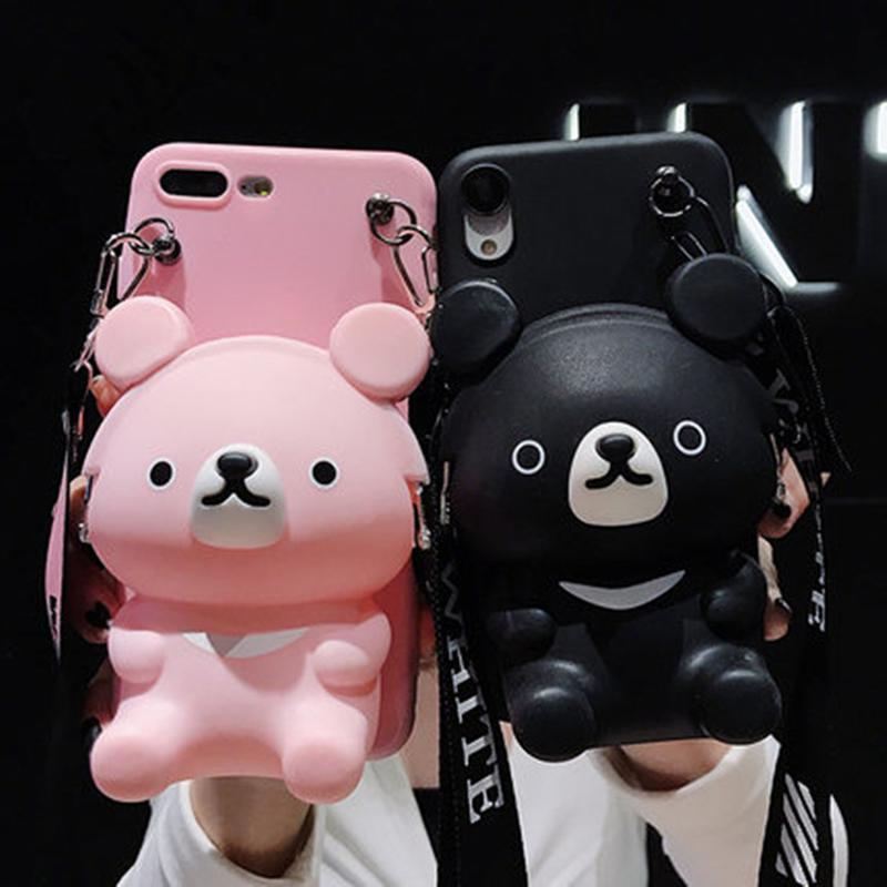 Doll pouch mobile phone case Lanyard Set For Samsung Galaxy S10 Plus 5G S10E S8 S9 Phone Case For Samsung Note 10 9 8 A50 A70 Phone Case