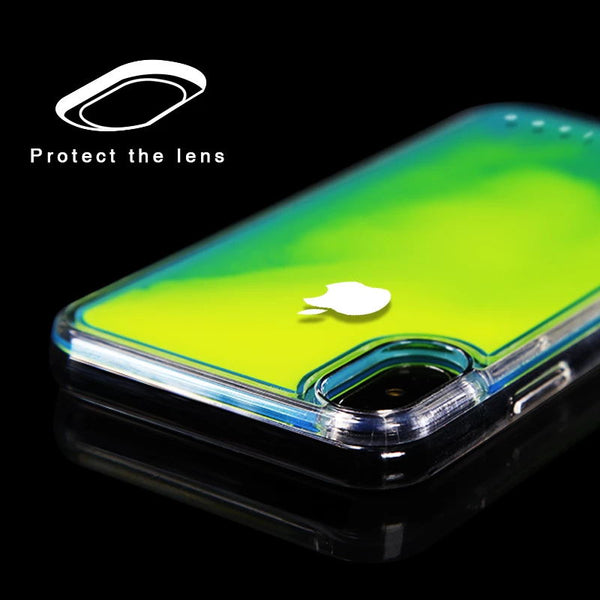 Dynamic Noctilucent Quicksand Phone Case for iPhone 6/6S/7/8/7P/8P/X/XS/XR/XSMax