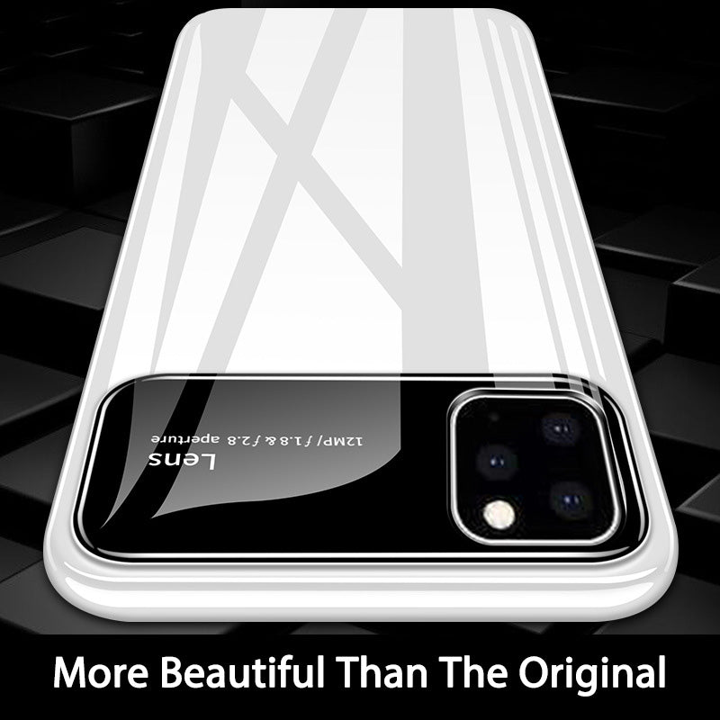 Luxury Tempered Glass Phone Case Matte Shockproof For iphone iPhone 11/Pro/X/XSMax Case