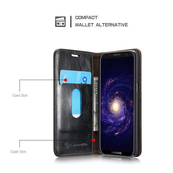 CaseMe For Samsung Galaxy S8/S9/S10/Plus  Wallet Stand Magnetic Flip Case