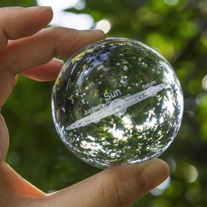 3D Solar System Crystal Ball