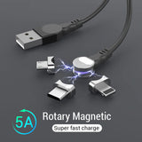 【50% OFF TODAY!!】Rotating magnetic absorption cable