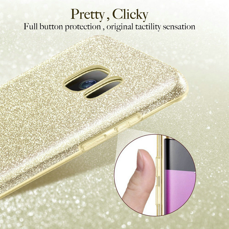For Samsung A10 20 30 40 50 glitter M10 70 Mobile phone shell mobile phone case fashion anti-fall tpu glitter three-in-one