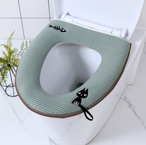 Washable Toilet Seat Cover with Zipper