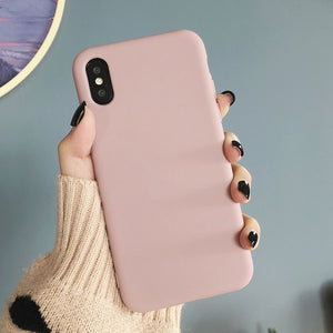Candy Color Soft Silicone Phone Case For iPhone 11 Pro Max/ iPhone X XS Max XR