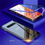 Two sides glass case of magnetize transparent for Samsung