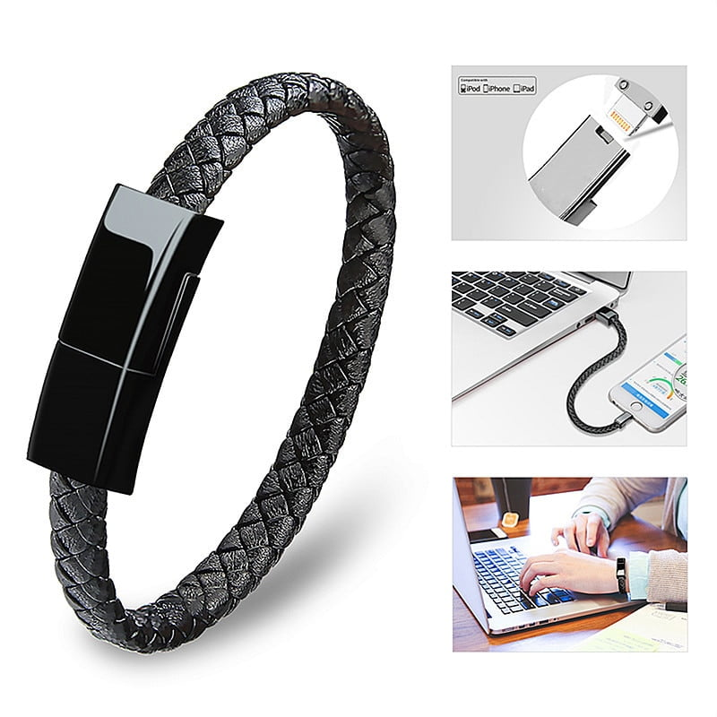Leather Charger Bracelet! Fast, Portable and Practical