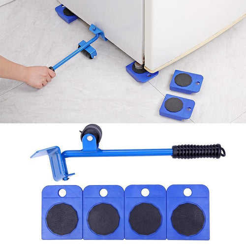 EASY FURNITURE MOVING PAD SET WITH LIFTING DEVICE