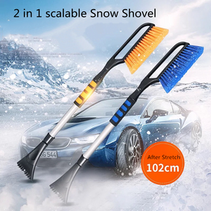 2 in 1 Car Adjustable Snow & Ice Scraper