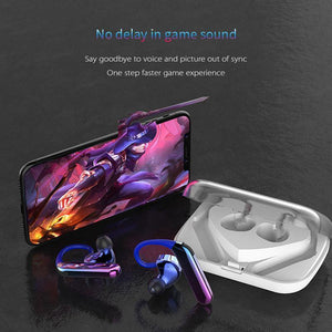 X6 Wireless Bluetooth 5.0 & IP7 Waterproof Double Moving Ring Earbuds