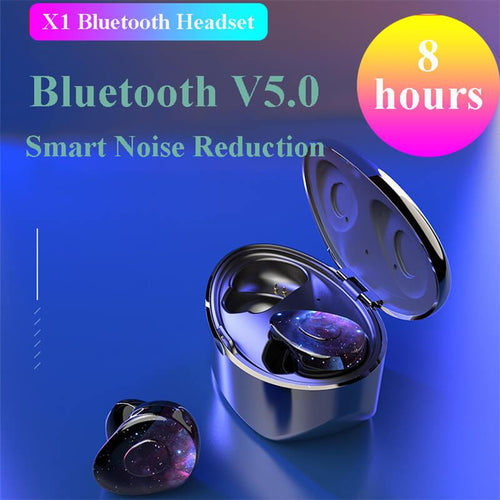 Newest Wireless Bluetooth 5.0 & IP7 Waterproof Bluetooth Headset Dual Mic with Charger