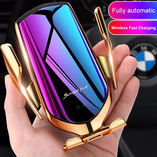 Black Friday Sale-Wireless Automatic Sensor Car Phone Holder and Charger