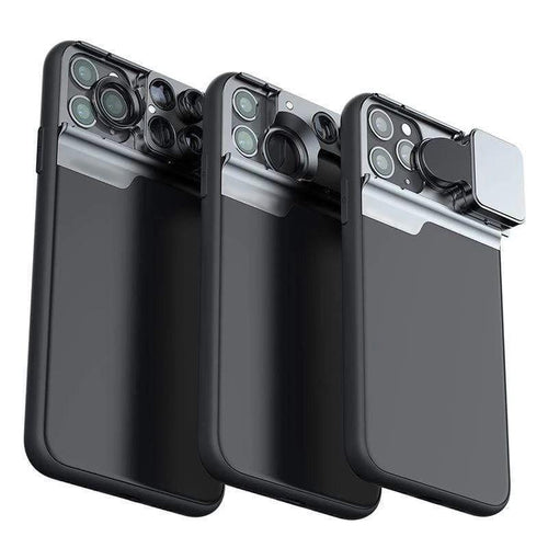 Slick 5 Lens Kit Case For iPhone 11 + 3 FREE Screen Protectors